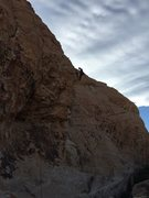 Rock Climbing Photo: At the top of Mic's Master (Wake up wall in Sandst...