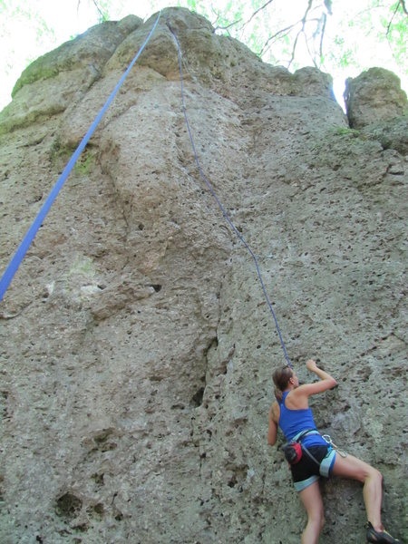 Rock Climbing Photo: Fanny starting Zwischendurch.