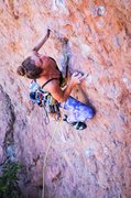 Rock Climbing Photo: Shallow two finger pocket right after the first bo...