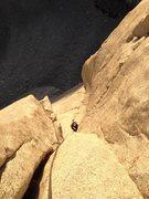 Rock Climbing Photo: Boris racing the sunset to the top of p8 (part sha...