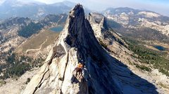 Rock Climbing Photo: Foreground: Boris. Background: smoke from a 40k ac...