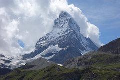 Rock Climbing Photo: Matterhorn on fire.