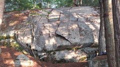 Rock Climbing Photo: The first section of climbable rock in this small ...