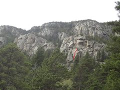 Rock Climbing Photo: Topo of the route