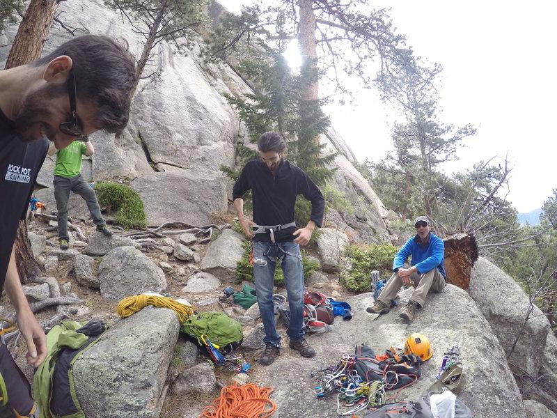Rock Climbing Photo: Prepping for Lumpy Ridge