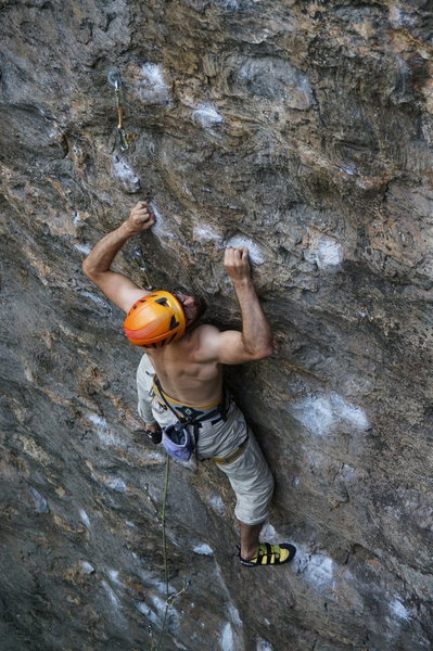Rock Climbing Photo: getting in it.