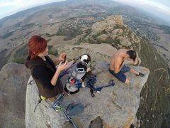 Skeeter bags a First Dog Ascent of the true summit. She had a blast!