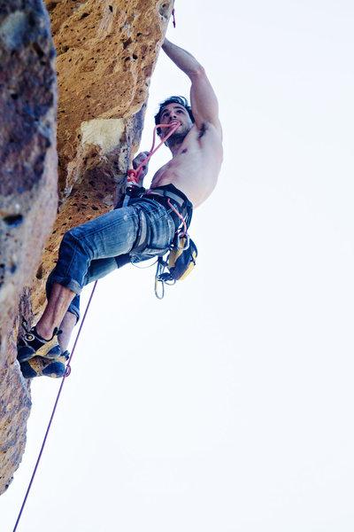 Rock Climbing Photo: Victor clipping.