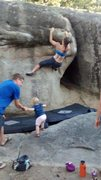 Rock Climbing Photo: Tootsie roll at Groom Creek. My baby needs more sa...