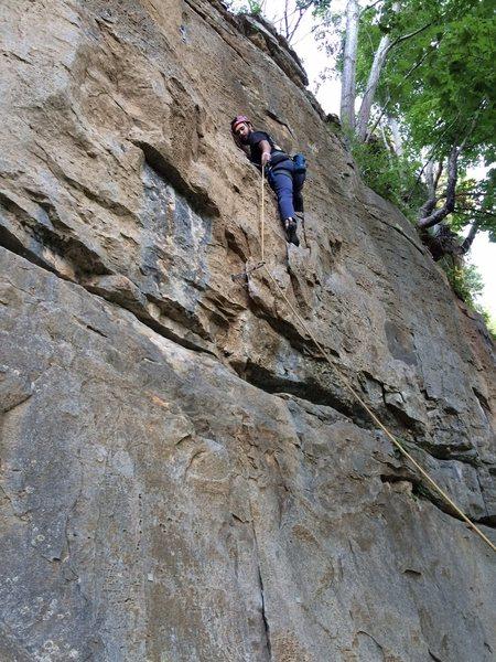 Rock Climbing Photo: Second bolt