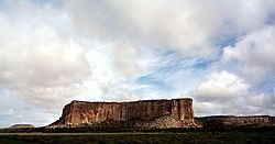 Rock Climbing Photo: Enchanted Mesa, Acoma Reservation