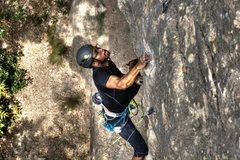 Rock Climbing Photo: Mario going for the send.
