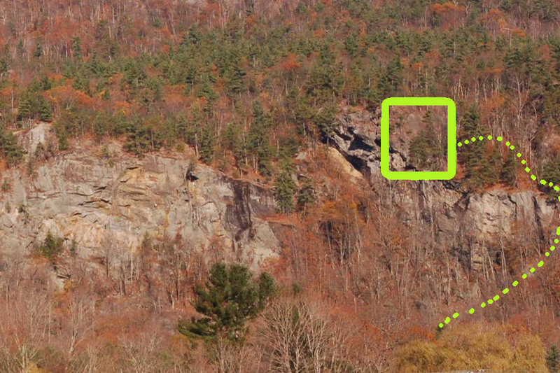 Basic location of the cliff and how to approach. Nice realestate!