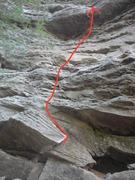Rock Climbing Photo: Flavor topo