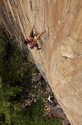 Rock Climbing Photo: Halley Tollner on Effigy.