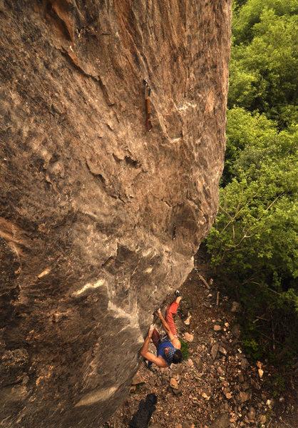 Rock Climbing Photo: Darek Krol on the first ascent of Rigor Mortis.