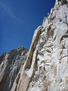 Rock Climbing Photo: Joshua Reinig in black high on the Fresh Air Trave...