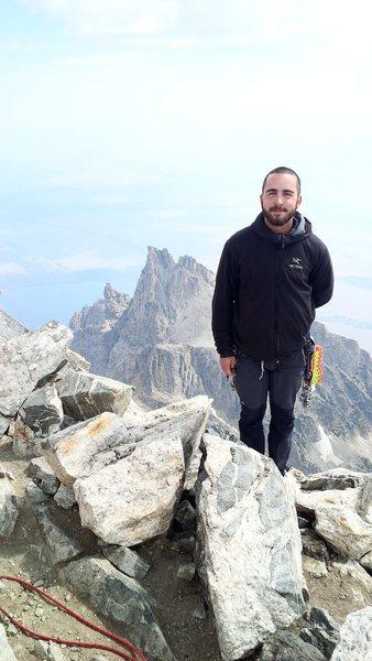 Rock Climbing Photo: Summit facing teewinot