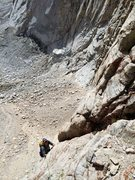 Rock Climbing Photo: Chris Orozco following P4 or 5 on Tulainyo Tower's...