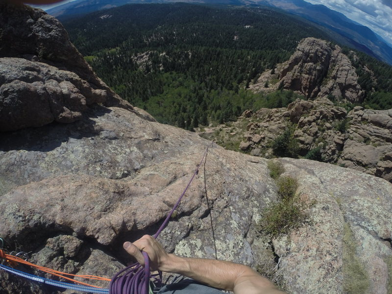 Rock Climbing Photo: Taking up slack in preparation of belaying up my s...