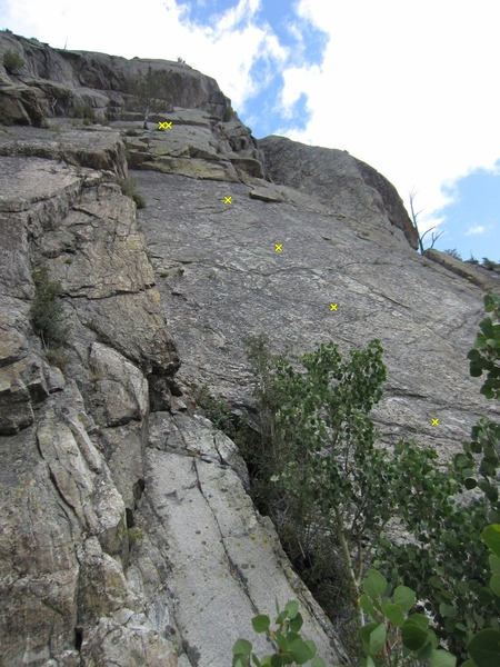 Rock Climbing Photo: Right side of the DDD West Wall.