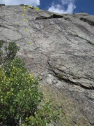 Rock Climbing Photo: DBT is easy to find, the left of 2 bolted routes o...
