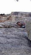 Rock Climbing Photo: leading the second pitch! Boom shackalaka!!!
