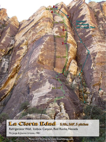 Rock Climbing Photo: Route Overlay La Cierta Edad