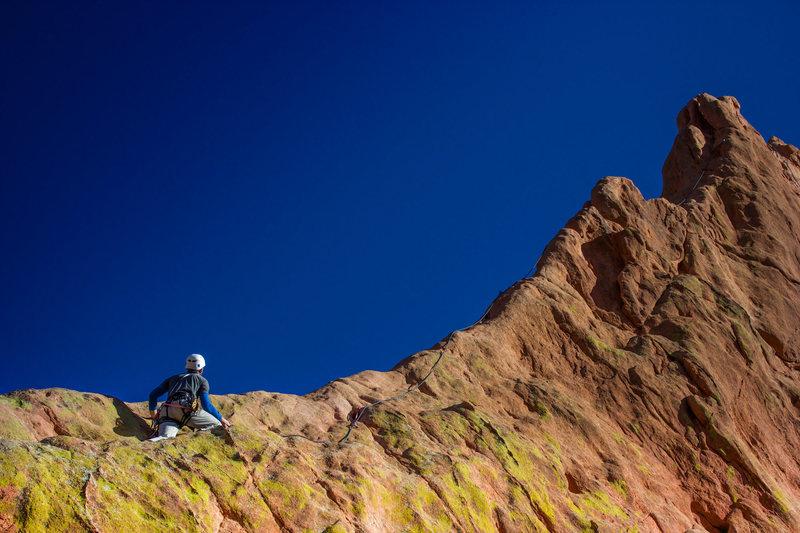 AMac following the ridge.