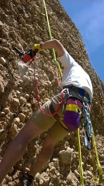 Rock Climbing Photo: In goes the steel