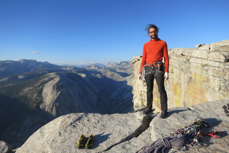 Atop the Regular Northwest Face of Half Dome