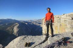 Rock Climbing Photo: Atop the Regular Northwest Face of Half Dome