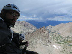 Rock Climbing Photo: Looking down on Spearhead from Cowboys & Indians, ...