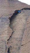 Rock Climbing Photo: Exiting Peapod Cave