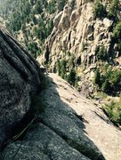 Rock Climbing Photo: 2nd pitch Pin Route.