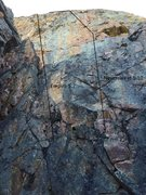 Rock Climbing Photo: West wall aka Sunset wall. Showing Empire and Neve...