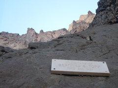 Rock Climbing Photo: Topp Plaque