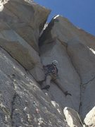 Rock Climbing Photo: You can either go left up that little bulge