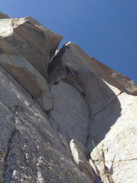 Rock Climbing Photo: or right up a clean crack to gain the chimney