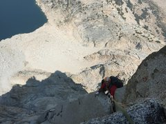 Rock Climbing Photo: approaching the belay ledge after a whole bunch of...