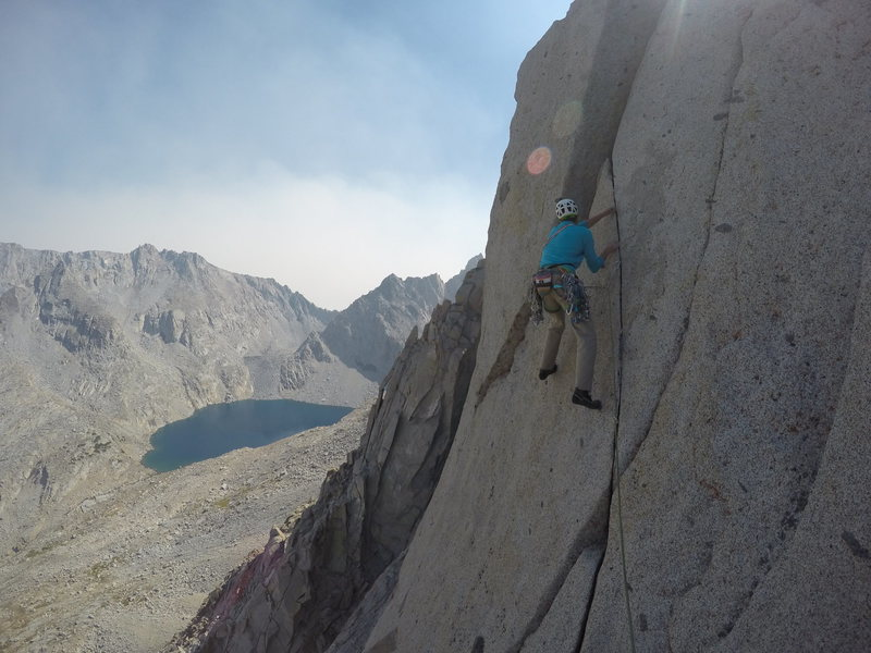Great diagonal finger crack on Pitch 8