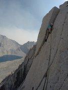Rock Climbing Photo: Pitch 8 after the diagonal crack