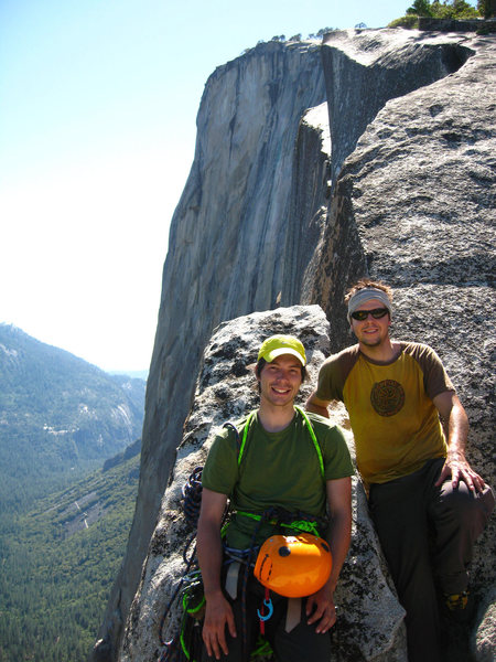 Rock Climbing Photo: Topping out on El Cap
