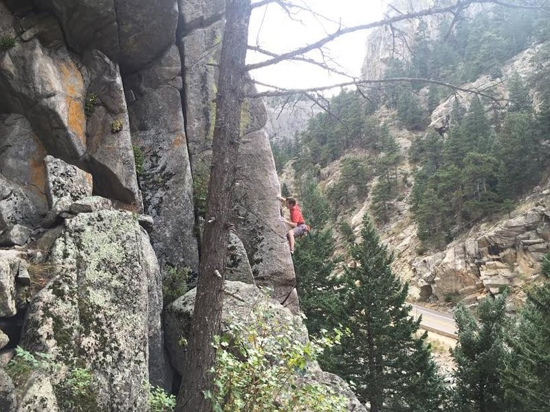 Can't remember the name of the route, but in Boulder Canyon