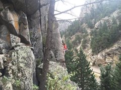 Rock Climbing Photo: Can't remember the name of the route, but in Bould...
