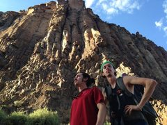 Rock Climbing Photo: Sun Devil Wall with me and the bro!