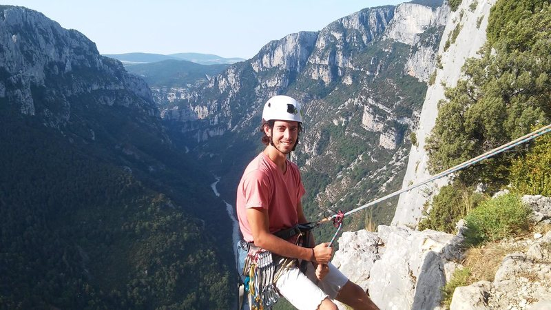 Rock Climbing Photo: Getting ready to repel into the Verdon Gorge in Sp...