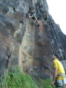 Rock Climbing Photo: Mission Nearly Impossible, 5.12a