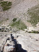Rock Climbing Photo: Looking down at the last pitch after topping out!