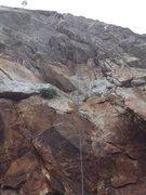 Rock Climbing Photo: Looking up P1